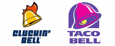 Cluckin Bell - Taco Bell Logo Vergleich