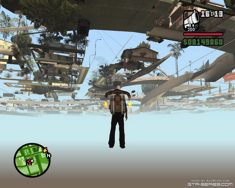 Die Blue Hell in San Andreas.
