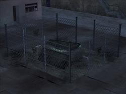 Der Biomüll-Brunnen bei Nacht
